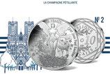 10 euros argent La Champagne pétillante 2017