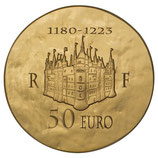 50 euros Philippe II Auguste 2012 en or 1/4 oz
