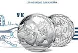 10 euros argent Le Pays Basque, Euskal Herria 2017