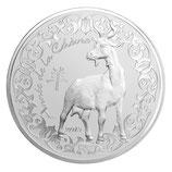 10 euros argent Année de la chèvre 2015