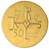 50 euros Charles le Chauve 2011 en or 1/4 oz