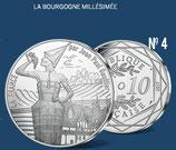 10 euros argent La Bourgogne millésimée 2017