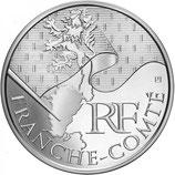10 euros argent Franche-Comté 2010