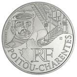 10 euros argent Poitou-Charentes 2012