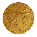 Médaille La france double championne du monde 2018