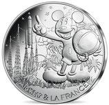 10 euros argent Mickey compte à rebours 2018