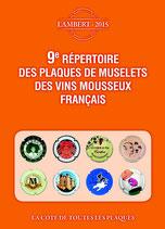 9ème édition répertoire Lambert des capsules de Vins mousseux