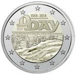 2 euros D-Day Débarquement  2014