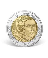 Pièce 2 euros Simone Veil BE 2018