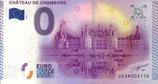 Billet touristique 0€ Château de Chambord 2015 Façade Nord