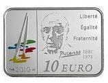 10 euros argent Pablo Picasso 2010