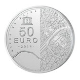 50 euros argent Rives de Seine Tour Eiffel 2014