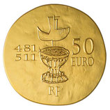 50 euros Clovis 2011 en or 1/4 oz