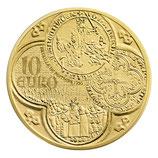 10 euros Semeuse 2015 en or 1/10 oz