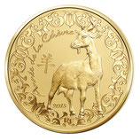 50 euros Année de la chèvre 2015 en or 1/4 oz