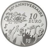10 euros argent Europa 30 ans de la fête de la musique 2011