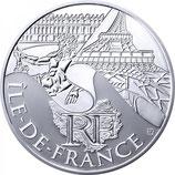 10 euros argent Île-de-France 2011