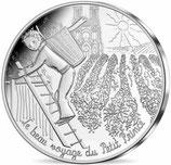 10 euros argent Petit prince fait les vendanges