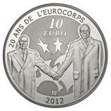 10 euros argent Europa 20 ans de l'Eurocorps 2012