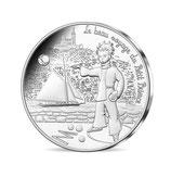 10 euros argent Petit prince joue à la pétanque 2016