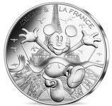 10 euros argent Mickey Aux pieds de la Dame de fer 2018