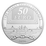 50 euros argent 5 onces Le redoutable 2014
