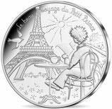10 euros argent Petit prince en terrasse à Paris