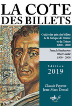 Cote des billets de la Banque de France et du Trésor 2019
