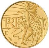 100 euros Semeuse en marche 2010 en or