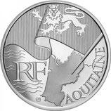10 euros argent Aquitaine 2010
