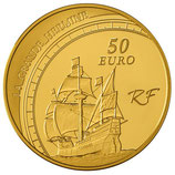 50 euros Jacques Cartier 2011 en or 1/4 oz