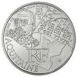 10 euros argent Aquitaine 2012