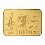 100 euros Pablo Picasso 2010 en or 1/2 oz