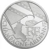 10 euros argent Champagne-Ardenne 2010
