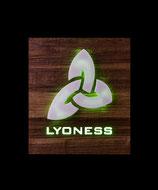 Lyoness Symbol in Nuß Natur gehackt