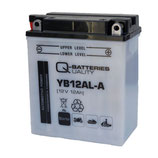 Q-Batteries Motorrad-Batterie YB12AL-A Säure 12V 12Ah 165A