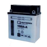 Q-Batteries Motorrad-Batterie YB9A-A Säure 12V 9Ah 130A