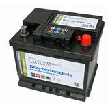Q-Batteries Starterbatterie 544 44 Q44 12V 44Ah 440A (EN), wartungsfrei