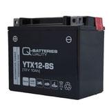 Q-Batteries Motorrad-Batterie YTX12-BS AGM 12V 10Ah 180A