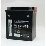 Q-Batteries Motorrad-Batterie YTX7L-BS AGM 12V 6Ah 110A