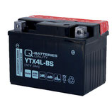 Q-Batteries Motorrad-Batterie YTX4L-BS AGM 12V 3Ah 60A