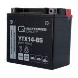 Q-Batteries Motorrad-Batterie YTX14-BS AGM 12V 12Ah 200A