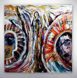 """Gemälde """"zwei auf gleichem Weg"""""""