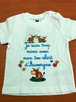 """Tee shirt bébé """"Je suis mimi..."""""""