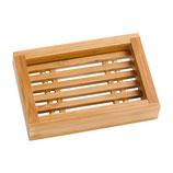 Seifenablage aus Bambus, rechteckig