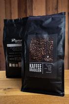 Kaffee Brasilien ganze Bohnen 1kg - Kaffeerösterei Rigano