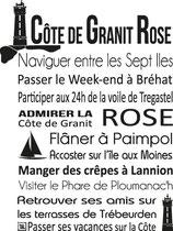 Torchon COTE DE GRANIT ROSE