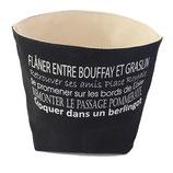 """Vide-poches """"Nantes texte"""" Noir"""