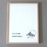 """Affiche """"La vie c'est comme une boîte de chocolats..."""""""
