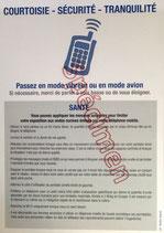 """Affichette de recommandations """"téléphone mobile"""""""